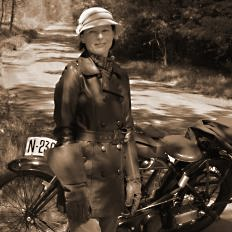 Period clothing, motorcycle